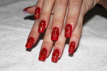 Red Wedding Nail Art | www.pixshark.com - Images Galleries ...